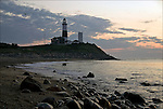 Sunrise at Montauk Point Lighthouse, New York Eastern Tip of Long Island. .Fourth oldest lighthouse in the United States
