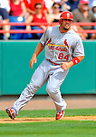 7 March 2012: St. Louis Cardinal infielder Zack Cox crosses third during action against the Washington Nationals at Space Coast Stadium in Viera, Florida. The teams battled to a 3-3 tie in Grapefruit League Spring Training action. Mandatory Credit: Ed Wolfstein Photo