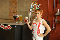 Beer tasting, Constance at Goose Island Beer Company, Chicago, Illinois, USA
