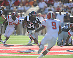 Ole Miss running back Brandon Bolden (34) rushes at Vaught-Hemingway Stadium in Oxford, Miss. on Saturday, September 4, 2010. Jacksonville State won 49-48 in double overtime.