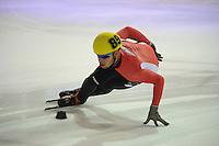 SHORTTRACK: AMSTERDAM: 04-01-2014, Jaap Edenbaan, NK Shorttrack, Prominenten Relay, Sjinkie Knegt, ©foto Martin de Jong
