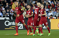 San Jose, CA - March 24, 2017: The U.S. Men's National team go up 2-0 over Honduras in first half action from a goal by Michael Bradley during their 2018 FIFA World Cup Qualifying Hexagonal match at Avaya Stadium.