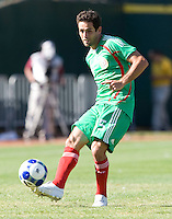 05 July 2009: Fausto Pinto of Mexico in action during the game against Nicaragua at Oakland-Alameda County Coliseum in Oakland, California.    Mexico defeated Nicaragua, 2-0.