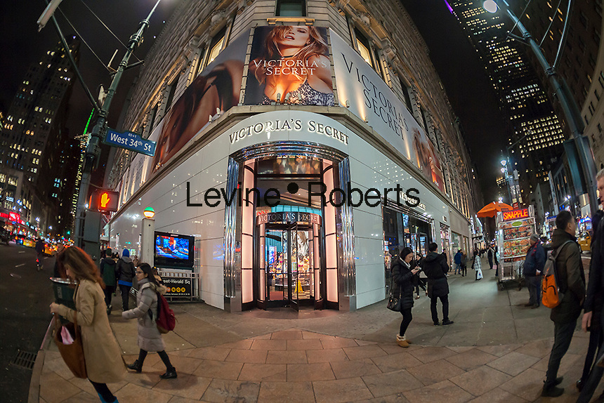 A Victoria's Secret store in Herald Square in New York on Tuesday, February 16, 2016.  (© Richard B. Levine)