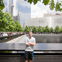 HSUL 20140530 United States, New York. Visitors at the 9/11 Memorial. Jake Wagman. Photographer: David Brabyn