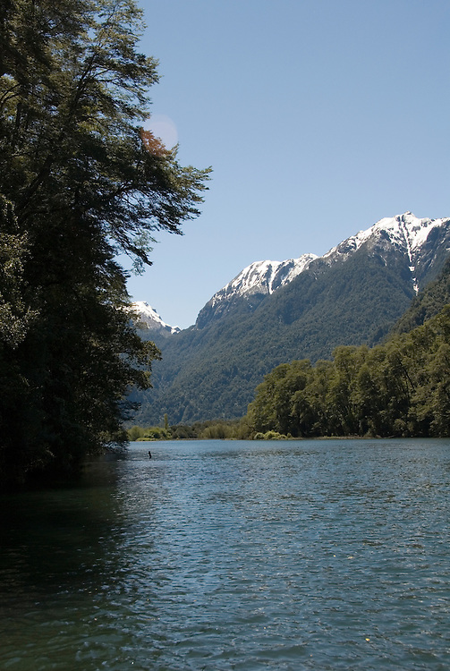 Chile, Lake Country: Scene while touring the Rio Negro near Peulla..Photo #: ch643-33941..Photo copyright Lee Foster www.fostertravel.com, lee@fostertravel.com, 510-549-2202.