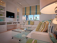 The guest living area creates a tropical get away