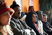 """Italy. Piedmont region. Turin. Gruppo Abele. Drop House. National ambassadors against tuberculosis (WHO). Stop TB Partnership. Left to right: Deespasri Niraula, Nepal, TV movie actress. Awad Ibrahim Awad, Sudan (North),TV presenter. Rania Ismail, Jordan, actress. Obour, Ghana, Pop singer. Zaal Chikobava, Georgia, theatre director. Gerry Elsdon, South Africa, TV presenter. Since 1965, its starting year, Gruppo Abele has always given voice to all disadvantaged people, especially those living on the streets. Listening to their experiences, Gruppo Abele was able to understand more about the use of drugs during these years. Outreach (""""Accoglienza"""" in Italian) means more than just the first contact point. Gruppo Abele include in """"reception"""" a full range of activities, aimed at people showing signs of addiction to drugs, alcohol or other substances, the HIV-infected, foreigners who are having difficulty in integrating with Italian society, and children. The activities in this sector are divided into various standards of intervention. Drop-in Centre: for listening, counselling, support and back-up activities, including the possibility of assuming responsibility for people with problems and also of their family members. Crisis Centre: Day&Night service, to provide for the most pressing needs of people living on the streets. 7.12.2011 © WHO /Didier Ruef"""