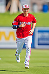 28 February 2017: Washington Nationals outfielder Trea Turner warms up prior to the inaugural Spring Training game between the Washington Nationals and the Houston Astros at the Ballpark of the Palm Beaches in West Palm Beach, Florida. The Nationals defeated the Astros 4-3 in Grapefruit League play. Mandatory Credit: Ed Wolfstein Photo *** RAW (NEF) Image File Available ***