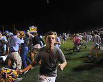 Oxford High students celebrate vs. Lafayette High at Bobby Holcomb Field in Oxford, Miss. on Thursday, August 30, 2012. Oxford High won 19-0.