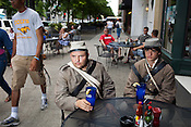 Jeff Adams and his son, Ethan, 16, from Ronda, NC, are Civil War re-enactors from the 26th NC Infantry. Jeff's Great Grandfather, David Thart, was a member of the actual 26th NC Infantry during the Civil War.