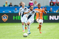 CARSON, CA-DECEMBER 1, 2012 -  Landon Donovan looks downfield during the 2012 MLS Cup Championship at the Home Depot Center in Carson, CA.  The LA Galaxy defeated the visiting Houston Dynamo 2-1 to repeat as Cup champions.