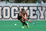 18 September 2015: Louisville's Victoria Stratton (NZL). The University of North Carolina Tar Heels hosted the University of Louisville Cardinals at Francis E. Henry Stadium in Chapel Hill, North Carolina in a 2015 NCAA Division I Field Hockey match. UNC won the game 5-0.