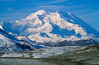 Mt. McKinley, north and south peaks, Alaska range, Denali National Park, Alaska