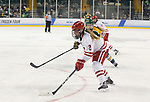 ST CHARLES, MO - MARCH 19:  Mellissa Channell (2) of the Wisconsin Badgers clears the puck during the Division I Women's Ice Hockey Championship held at The Family Arena on March 19, 2017 in St Charles, Missouri. Clarkson defeated Wisconsin 3-0 to win the national championship. (Photo by Mark Buckner/NCAA Photos via Getty Images)