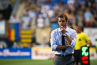 DC United head coach Ben Olsen. DC United defeated Philadelphia Union 1-0 during a Major League Soccer (MLS) match at PPL Park in Chester, PA, on June 16, 2012.