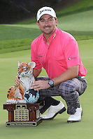 12/02/12 Thousand Oaks, CA:  Graeme McDowell wins  the 2012 World Challenge presented by Northwestern Mutual by 3 strokes over Keegan Bradley . Held at the Sherwood Country Club.