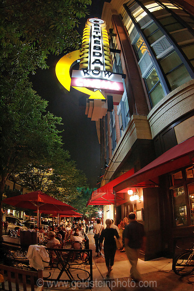 Bethesda Maryland is an upscale urban center just North of Washington DC. There is a lot of nightlife due to the large numbers of restaurants there.