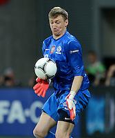 FUSSBALL  EUROPAMEISTERSCHAFT 2012   VORRUNDE Tschechien - Polen               16.06.2012 Torwart Przemyslaw Tyton (Polen)