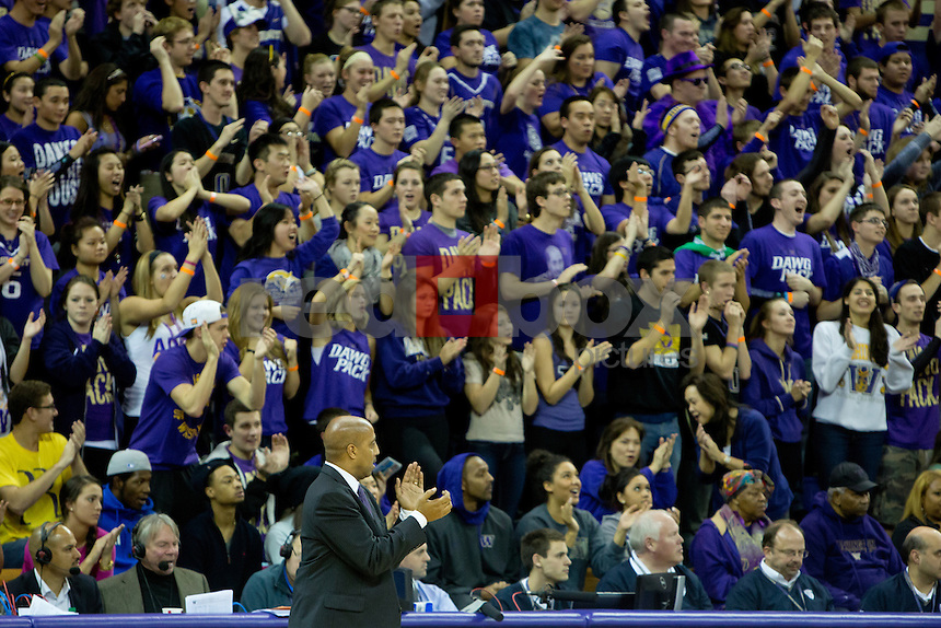 The University of Washington men's basketball team defeats Saint Louis University 66-61 at Alaska Airlines Arena on November 28, 2012 (Photo by Scott Eklund/Red Box Pictures)