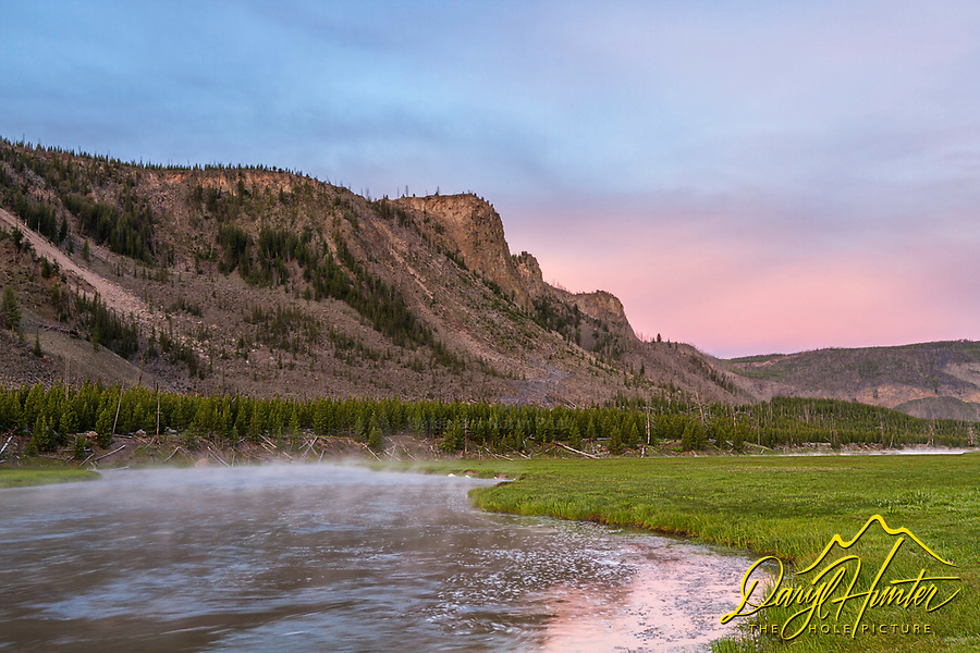Madison River Sunrise in Yellowstone National Park.