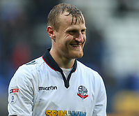 Bolton Wanderers' David Wheater leaves the field with a smile after his side won 2-1<br /> <br /> Photographer Alex Dodd/CameraSport<br /> <br /> The EFL Sky Bet League One - Bolton Wanderers v Northampton Town - Saturday 18th March 2017 - Macron Stadium - Bolton<br /> <br /> World Copyright &copy; 2017 CameraSport. All rights reserved. 43 Linden Ave. Countesthorpe. Leicester. England. LE8 5PG - Tel: +44 (0) 116 277 4147 - admin@camerasport.com - www.camerasport.com