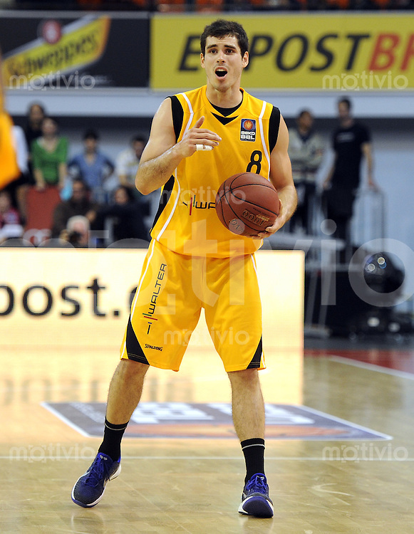 Basketball 1. Bundesliga  2010/2011  12.10.2011 FC Bayern Muenchen - Walter Tigers Tuebingen  Nicolai Simon (Tigers)