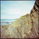 Rock Formation, Combe Martin, North Devon | Expired Film, Colour