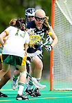 1 May 2010: University of New Hampshire Wildcat defender Ally Stager, a Freshman from Reading, MA, in action against the University of Vermont Catamounts at Moulton Winder Field in Burlington, Vermont. The visiting Wildcats defeated the Lady Catamounts 18-10 in the last game of the 2010 regular season. Mandatory Photo Credit: Ed Wolfstein Photo