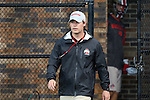09 May 2015: Ohio State assistant coach Brad Ross. The Duke University Blue Devils hosted the Ohio State University Buckeyes at Koskinen Stadium in Durham, North Carolina in a 2015 NCAA Division I Men's Lacrosse Tournament First Round match. Ohio State won the game 16-11.