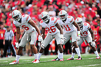 The Buckeyes defense gets ready to kick-off. Ohio State trounced Maryland 52-24 during a game at the Capital One Field in Byrd Stadium, College Park, MD on Saturday, October 3, 2014.  Alan P. Santos/DC Sports Box