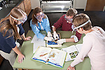 0711-34 150.CR2.College of Life Sciences.Biology.Marta Adair's Education Lab.Suzette Holyoak (light blue), Luke Talley, Anna Harmon (pink), Erika Saxey (dark Blue)..November 12, 2007..Photography by Mark A. Philbrick..Copyright BYU Photo 2007.All Rights Reserved .photo@byu.edu  (801)422-7322