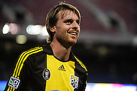 Eddie Gaven (12) of the Columbus Crew. The New York Red Bulls defeated the Columbus Crew 1-0 during a Major League Soccer match at Giants Stadium in East Rutherford, NJ, on August 30, 2009.
