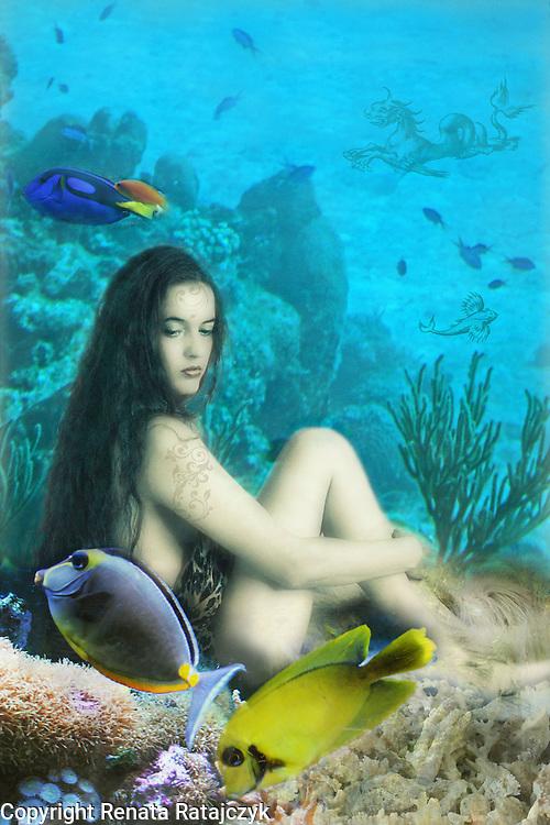 Nymph In An Underwater World