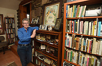 NWA Democrat-Gazette/MICHAEL WOODS @NWAMICHAELW<br /> Abby Burnett in her favorite room  January 18, 2017 at her home in Kingston, Arkansas.  My favorite space is: my home office.<br /> Why? It may sound strange to say, paraphrasing Virginia Woolf, that I need a &ldquo;room of my own&rdquo; when the entire house is mine. Still, this home office was built for me, and it is filled with things pertaining to Arkansas cemeteries and death customs, subjects I&rsquo;m obsessed with.