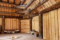 Interior of a Yupik men's lodge, Alaska Native Heritage Center, Anchorage, Alaska, USA