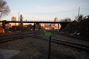 Views of the rail system around the Boylan St. Bridge in Raleigh, North Carolina, Feb. 8, 2010.