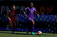 Portland, OR - Saturday April 15, 2017: Jamia Fields during a regular season National Women's Soccer League (NWSL) match between the Portland Thorns FC and the Orlando Pride at Providence Park.