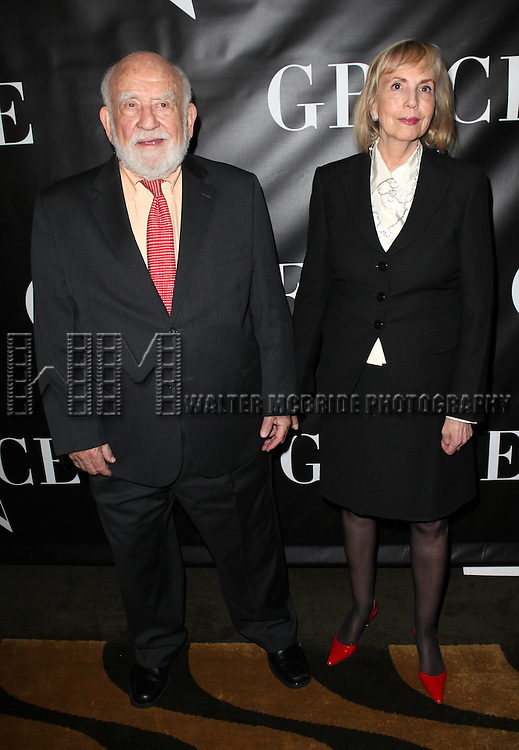 Ed Asner and Cindy Gilmore Asner attending the Opening Night Performance After Party for 'Grace' at The Copacabana in New York City on 10/4/2012.