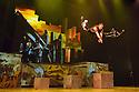 London, UK. 30.09.2013. Cirque Eloize present their new, urban, show iD, at the Peacock Theatre. The company comprises: Ignacio Adarve, Lisa Eckert, Nicolas Fortin, Nadia Lumley, Justine Methe-Crozat, Batiste Montassier, Conor Neall, Forty Nguyen, Thibaut Philippe, Angel Sanchez, Jerome Sordillon, Jeremy St-Jean, Jon Larrucea, Kone Thong Vongpraseuth, Emi Vauthey.  Photograph © Jane Hobson.