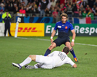 Rugby World Cup Auckland  England v France  Quarter Final 2 - 08/10/2011. Ben Foden (England)  scores England's first try .Photo Frey Fotosports International/AMN Images
