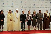 François Hollande meets with Queen Rania Al Abdullah  -  Abu Dhabi