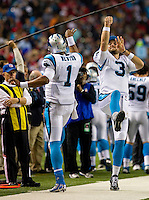 Sports action photography of the Carolina Panthers against the Atlanta Falcons at the Georgia Dome in Atlanta, Georgia.<br /> <br /> Charlotte Photographer - Patrick SchneiderPhoto.com
