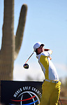 MARANA, AZ - FEBRUARY 21: Ryo Ishikawa tees off on the 2nd hole during a practice round of the Accenture Match Play Championship at the Ritz-Carlton Golf Club at on February 21, 2011 in Marana, Arizona. (Photo by Steve Dykes/Getty Images) *** Local Caption *** Ryo Ishikawa
