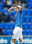 St Johnstone v Celtic...13.08.14  SPFL<br /> Steven MacLean rues a missed chance<br /> Picture by Graeme Hart.<br /> Copyright Perthshire Picture Agency<br /> Tel: 01738 623350  Mobile: 07990 594431