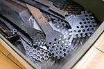 "Photo shows an implement known as ""shikake-bera"" (""trick spatula"") that is used to make the ""kara-nuri"" style Tsugaru lacquerware products in Hirosaki, Japan on 18 Jan. 2013. Photo: Robert Gilhooly.."
