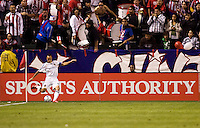 LA Galaxy forward Landon Donovan takes a cornerkick. Chivas USA and the LA Galaxy played to a 0-0 draw at Home Depot Center stadium in Carson, California on Saturday April 11, 2009.  .