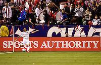 LA Galaxy forward Landon Donovan takes a cornerkick. Chivas USA and the LA Galaxy played to a 0-0 draw at Home Depot Center stadium in Carson, California on Saturday April 11, 2009.  .