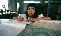 Phnom Penh, Cambodia. Thirteen year old girl, whose mother tried to sell her into prostitution, escaped and found refuge at The Cambodian Center for the Protection of Children's Rights.<br />