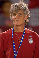 Pia Sundhage coach of United States The US Women's National Team defeated Haiti 5-0 during the CONCACAF Women's World Cup Qualifying tournament at Estadio Quintana Roo in Cancun, Mexico on October 28th, 2010.